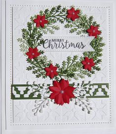 Hi bloggers!  I have a really sweet Christmas card as this week's giveaway.  I am a wreath lover and the  Pine Twigs  were just callin...