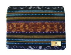 """The 13"""" Jepara 1 Laptop Case crafted with hand-woven Indonesian ikat from Jepara, Java.   Price: USD $65.00  Free Shipping to Asia $5 Shipping Outside Asia   Discover more hand-woven cases at: www.bhinnekacases.com"""