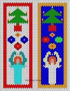 BeadBag: Christmas Peyote Bookmarks - Chart