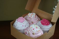 4 Large Baby Cupcakes by LovelyLeola on Etsy, $55.00    Baby shower gift, new baby, baby boy, baby girl, unique baby gift, unique baby shower gift, baby shower gift idea, new mom