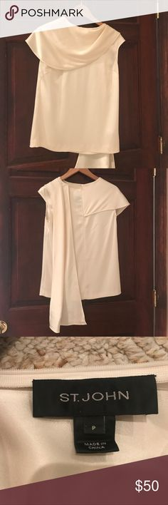 St. John silk blouse Beautiful beige silk blouse with scarf Tops Blouses