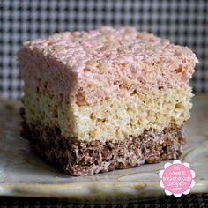 Neapolitan rice krispies