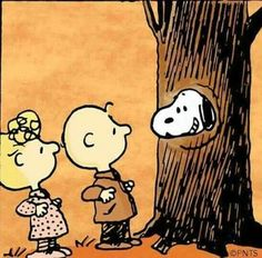 Sally, Charlie Brown and Snoopy