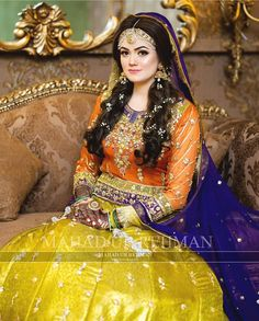 Image may contain: 1 person Pakistani Bridal Dresses Online, Pakistani Mehndi Dress, Bridal Mehndi Dresses, Disney Wedding Dresses, Pakistani Bridal Wear, Bridal Dress Design, Pakistani Dress Design, Indian Bridal, Designer Bridal Lehenga
