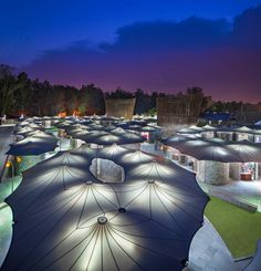 Image 1 of 24 from gallery of Dilli Haat / Archohm Consults. Photograph by André J Fanthome Membrane Structure, Shade Structure, Delhi Tourism, Food Court Design, Architecture Cool, Factory Architecture, Tensile Structures, Facade Lighting, Falls Church