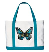 """Earthly Paradise Tote Bag--$14.99----Perfect for your new spring makeup! Fits all Avon Pro Makeup Brushes yet is sleek and compact. 9"""" L x 7"""" W. Polyester."""