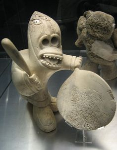 Inuit sculpture, at Montreal's Musee des Beaux Arts