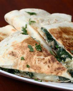 Spinach & Mushroom Quesadilla Recipe by Tasty
