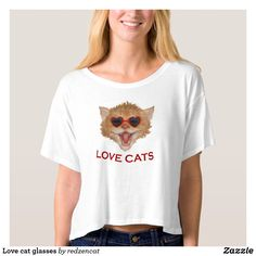 Find the right fit while staying in style with Cat t-shirts from Zazzle. Choose from an array of fantastic designs or create your own today! Shirt Designs, Glasses, Cats, Mens Tops, T Shirt, Women, Style, Fashion, Eye Glasses