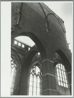 A bridge too far. St. Walburgis church, Arnhem, The Netherlands. South side of the church destroyed in the Battle of Arnhem. Oct. 17th, 1948.