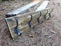rustic wall hook rack