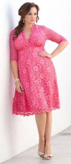 Mademoiselle Lace Dress Plus Size k&g plus size dresses Dress Plus Size, Plus Size Outfits, Plus Size Spring Dresses, Lace Midi Dress, Pink Dress, Dress Skirt, Curvy Fashion, Plus Size Fashion, Trendy Fashion