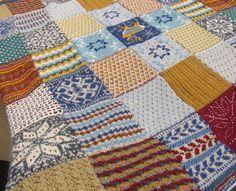 Linda's knitted blanket. Original pattern Debbie Abrahams mystery blanket 2013 #knitting #mysteryblanket