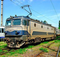 Electroputere Electric locomotive from EA-type series at Iaşi in Romania