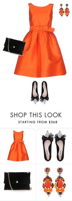"""""""outfit 5237"""" by natalyag ❤ liked on Polyvore featuring P.A.R.O.S.H., Miu Miu, Lanvin and Kenneth Jay Lane"""