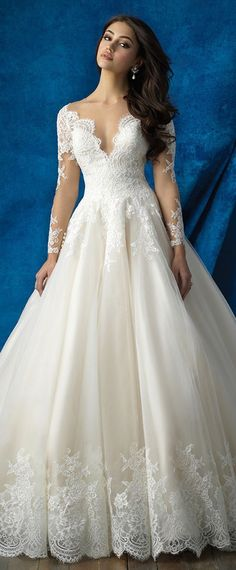 Fantastic Tulle Jewel Neckline A-line Wedding Dresses With Lace Appliques #weddinggowns