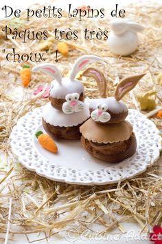 """Des petits lapins très """"choux"""" à la châtaigne pour Pâques!! (Défi de Chef Damien terminé)....recette"""
