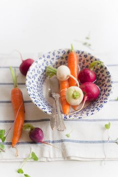 Radishes, Carrots and Fresh Herbs   Au Petit Goût - Elizabeth Gaubeka