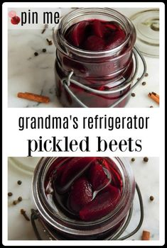Grandma's Refrigerator Pickled Beets are a simple, classic pickled beet that makes just enough to fill a jar. Because they're easy, you can just knock them out when you have a few minutes. #refrigerator pickled beets #pickled beets #quick pickled beets