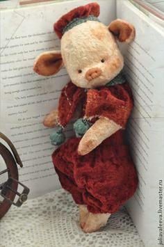 Мишки Тедди ручной работы. Ярмарка Мастеров - ручная работа Поросенок Федор. Handmade.
