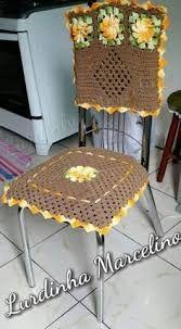 Resultado de imagem para capas de cadeiras de croche