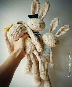 Mesmerizing Crochet an Amigurumi Rabbit Ideas. Lovely Crochet an Amigurumi Rabbit Ideas. Easter Crochet, Cute Crochet, Crochet Dolls, Knit Crochet, Knitting Projects, Crochet Projects, Knitted Bunnies, Crochet Rabbit, Chunky Yarn