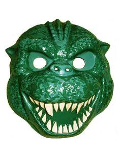 Godzilla - vintage retro plastic Halloween mask