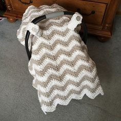 Ravelry: Chunky Chevron Car Seat Canopy Cover pattern by Crochet by Jennifer