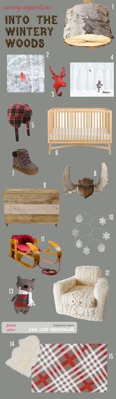 Into the {Wintery} Woods Nursery Board