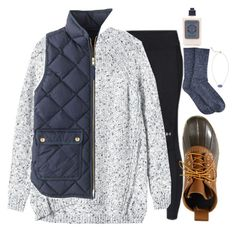 """A hint of blue"" by brooklm ❤ liked on Polyvore featuring Under Armour, Rebecca Taylor, L.L.Bean, Hue, Kendra Scott, L'Occitane, J.Crew, women's clothing, women's fashion and women"