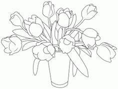 vase of Tulips #free #digital image from Birds Cards