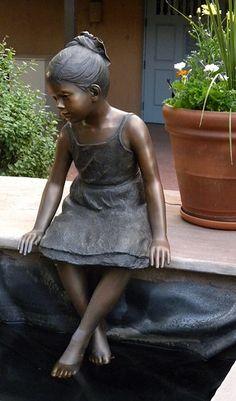 """Bronze Girl Sitting"" photo by Charles Yurchak (Cha Li), via Flickr;  in New Mexico"