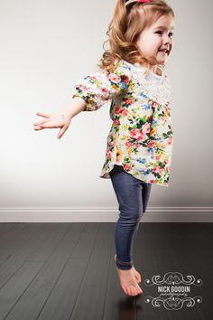 Adorable floral & lace top available in Brynley's Corner