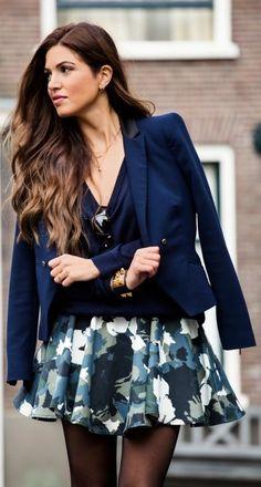 Floral Camo by Negin Mirsalehi Party Fashion, Love Fashion, Womens Fashion, Fashion Trends, Floral Fashion, Skirt Fashion, Fashion Design, Estilo Glamour, Negin Mirsalehi
