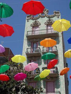 Festa Major de Gràcia, Plaza del Sol, Barcelona, by Benoit Pieron.