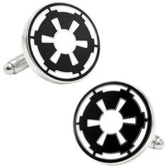 Join the Galactic Empire and dominate your wardrobe with these cuff links, featuring the official Star Wars emblem. metal with polished silver-tone finish imported Available in colors:... More Details