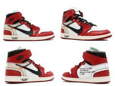 0173b301a8006 Size 10 THE 10 AIR JORDAN 1 OFF WHITE aa3834 101 Black White Varstiy Red