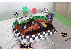 Monster Jam cake - Monster Truck Valentine Box, Monster Truck Birthday, Monster Trucks, 3rd Birthday Parties, Boy Birthday, Birthday Ideas, Monster Jam Cake, Truck Cakes, Party Cakes