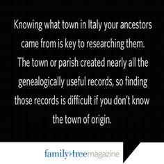 Italian Genealogy Research Strategies  - Family Tree Magazine