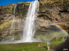 Seljalandsfoss Iceland. A beautiful powerful place made all the more magnificent by a rainbow. . . #struthadventures #iceland #waterfall #seljalandsfoss #powerful #magnificent #travellingtheworld #wanderlust #globetrotter #viajeros #viajandoporelmundo #igtravel #sharetravelpics #nomads #throwback #backintheday #nofilter #trip #travel #travelling