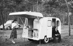 Een oude Kip-caravan. Foto: GPD