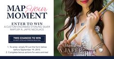 I entered into the @BaileyBanksandB & @AJaffe1892 #MapYourMoment #Sweeps#BBBJewelry