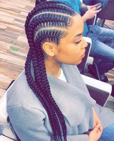 We love neat stitch cornrows . We love neat stitch cornrows . Goddess Braid Styles, Goddess Braids, Goddess Hair, Curly Hair Styles, Natural Hair Styles, Updo Styles, Styles Of Braids, Hair Braiding Styles Black, Box Braid Styles
