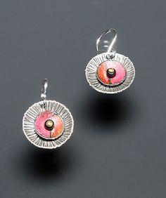 Division Earrings: Deb Karash: Silver Earrings - Artful Home