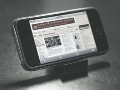 DIY iStand: Using Binder Clips To Make An iPhone Stand
