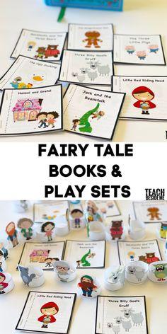 Fairy Tale Books Play set for kids Short Fairy Tales, Classic Fairy Tales, Stem Projects For Kids, Paper Crafts For Kids, Fairy Tale Crafts, Fairy Tale Activities, Learning Through Play, Creative Teaching, Mini Books