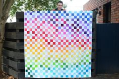 Kat's Craft — Rainbow connection quilt
