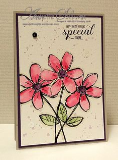 Garden in Bloom Rose Eggplant by fauxme - Cards and Paper Crafts at Splitcoaststampers