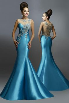 Beautiful Evening Gowns, Blue Evening Dresses, Mermaid Evening Dresses, Beautiful Dresses, Prom Dresses, Bride Dresses, Designer Formal Dresses, Formal Gowns, Long Gowns