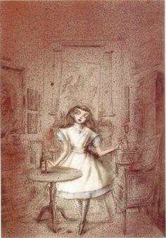 Illustration byKuniyoshi KanekoforAlice in Wonderland (See more Kaneko atfrenchtwist)
